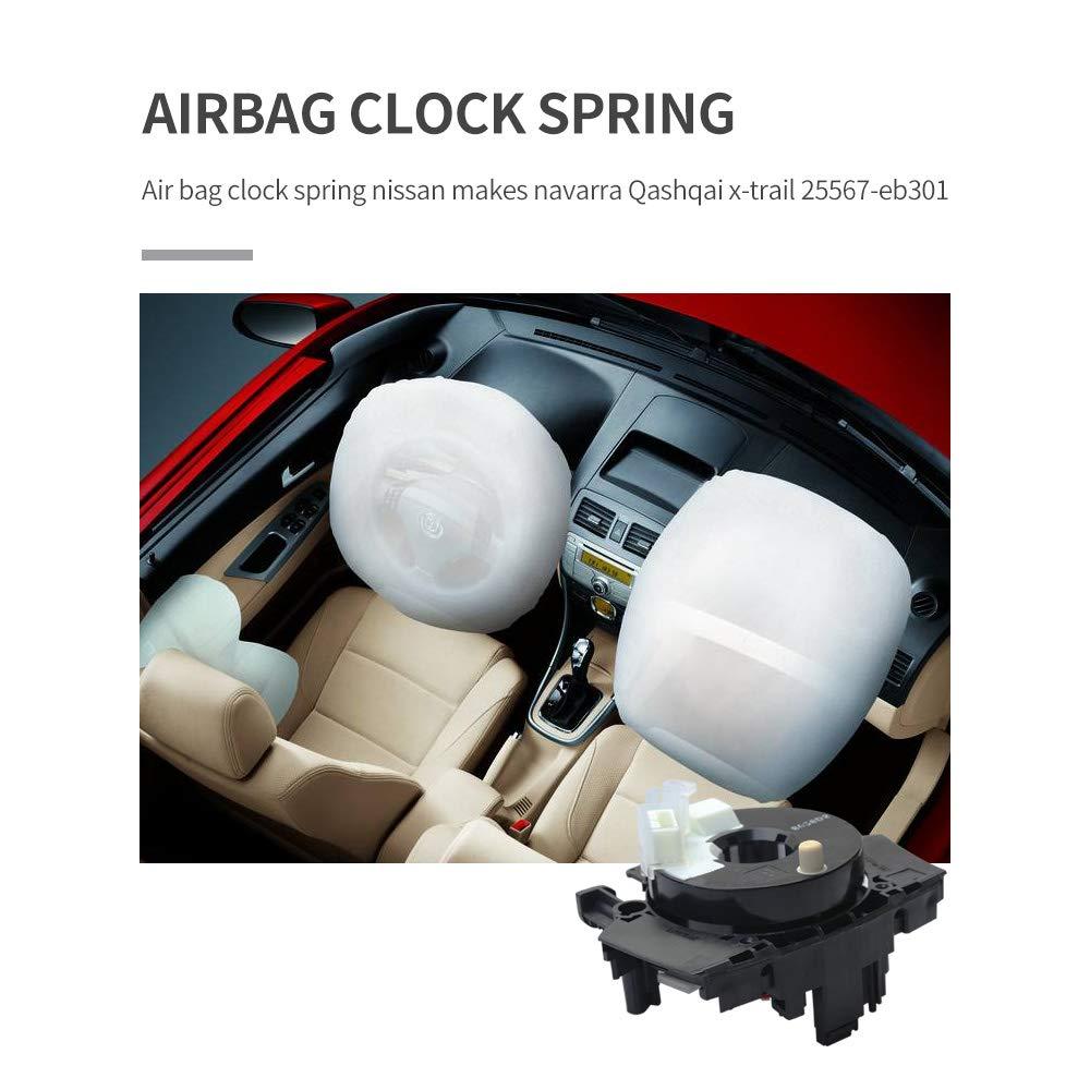 Airbag Clock Spring Squib Spiral Cable fit for Nissan Navara Qashqai X-Trail Reference OEM#25567-EB301