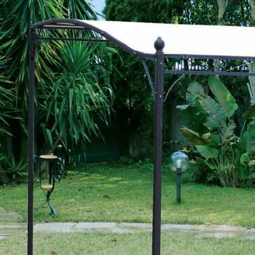 WEBMARKETPOINT Gazebo in ferro da giardino per esterno cm 3 x 2.5 ecru: Amazon.es: Hogar