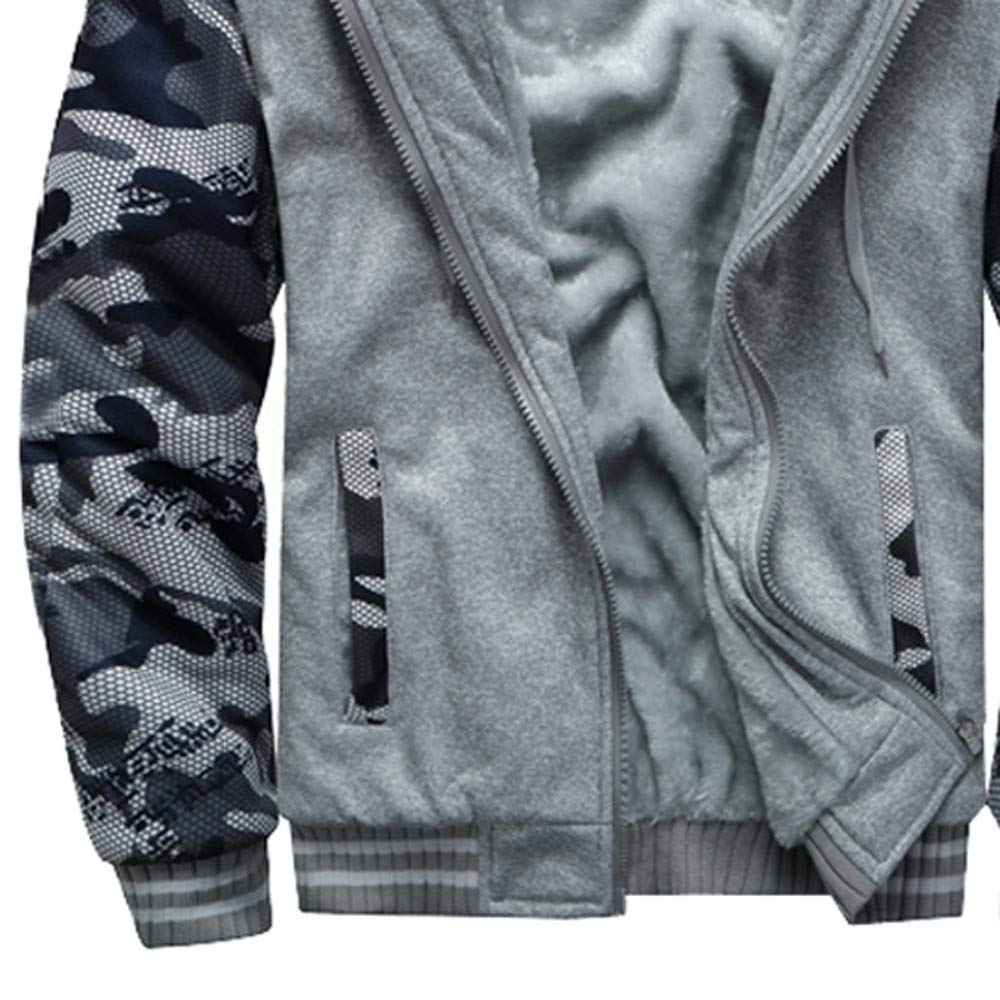 Clearance Forthery Mens Pullover Winter Fleece Hoodie Jackets Full Zip Warm Thick Coat