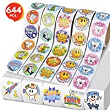 ArtCreativity Dental Stickers and Temporary Tattoos Set for Kids by Set Includes 500 Stickers and 144 Temporary Tattoos | Reward Stickers| Great Gift Idea for Boys or Girls, Fun Craft Tools for Kids