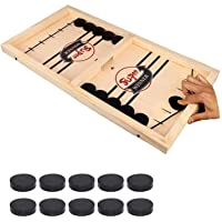 Fast Sling Puck Game Paced,Tinfence Table Desktop Battle,Winner Board Games Toys for Adults Parent-Child Interactive Chess Toy Board Table Game (15.2 in x 9.4 in)