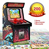GPCT Portable Mini Retro Arcade Handheld Cabinet Machine For Kids W/ Built-In High Resolution 200 Nostalgic 16-Bit Video Games. Battle Joystick Gaming System Console Children Toys Novelty Electronics