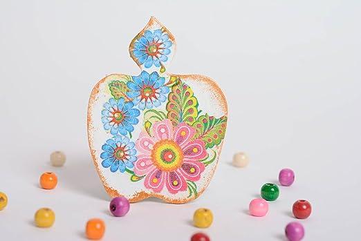 Iman para nevera de contrachapado artesanal pintado con acrilicos ...