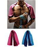 Cooling Towels 2 Pack Sports Cooling Towels for Athletes Jogging Biking Hiking WorkOut Yoga Towels