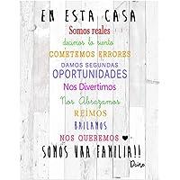 DCine Cuadro Frases/Frases positivas/Cuadro Madera/Regalo Original/Normas del hogar/Normas