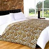 Soft Touch Luxurious Throw Blanket Leopard, Multi-Colour, 140 x 90 cm
