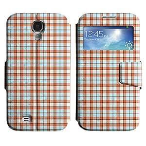 LEOCASE patrón de cuadros Funda Carcasa Cuero Tapa Case Para Samsung Galaxy S4 I9500 No.1007045