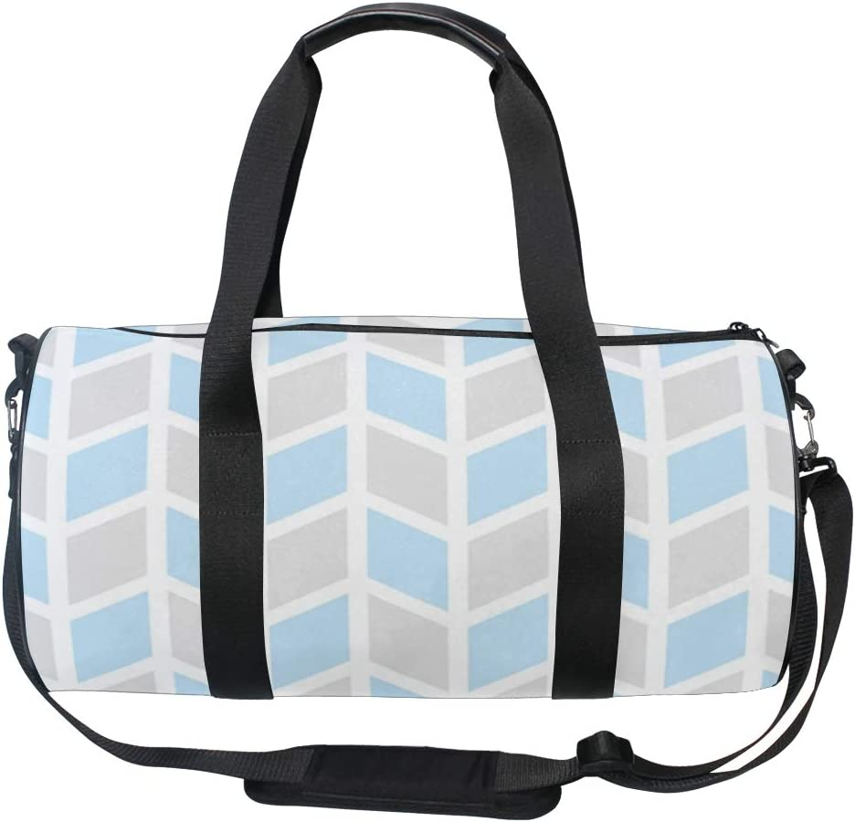 MALPLENA Fresh Color Rhomboid Drum gym duffel bag women Travel Bag