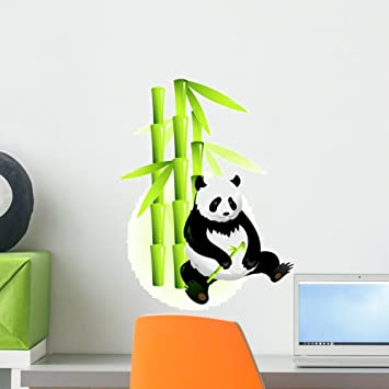 Wallmonkeys Wall Decals Bamboo and Panda Peel and Stick Wall Decal 18 x 13 : wallmonkeys wall decals - www.pureclipart.com