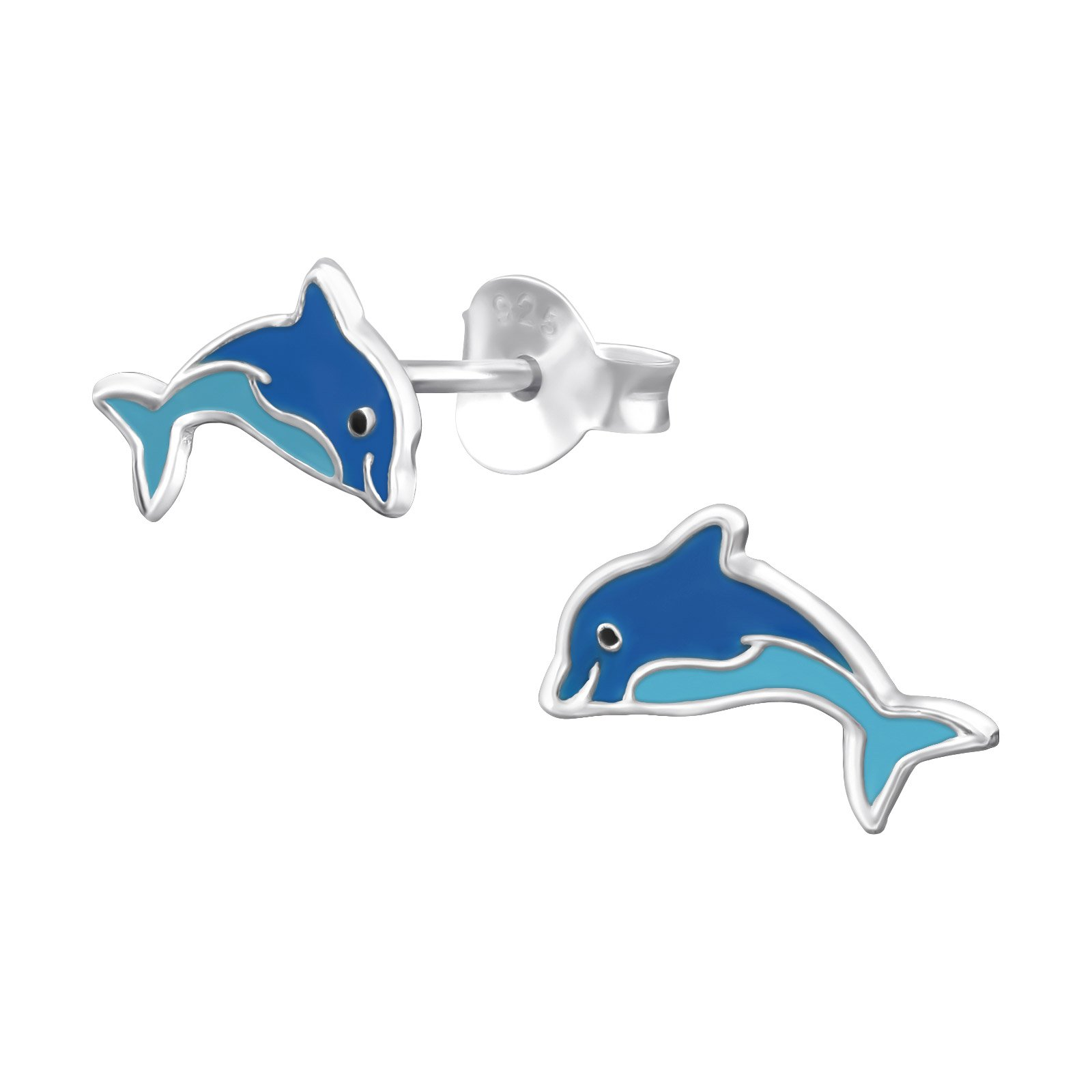 Hypoallergenic Dolphin Stud Earrings for Girls (Nickel Free and Safe for Sensitive Ears)