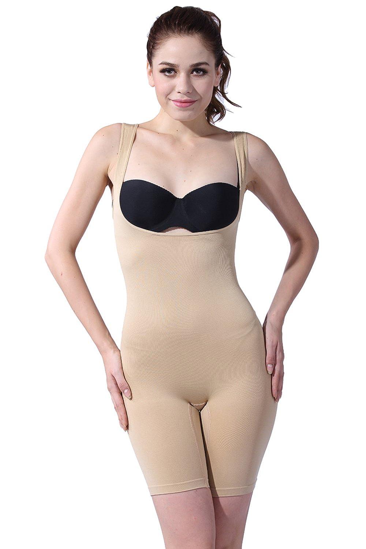 Franato Women's Wear Your Own Bra Mid-Thigh Slimming Unitards Shapewear CA17741