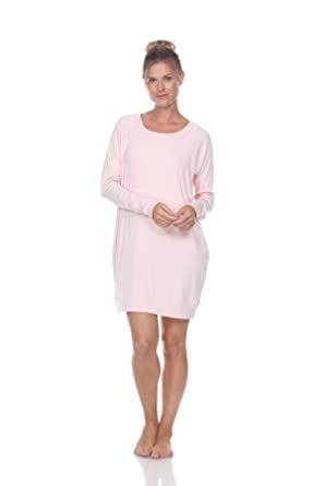 e54dc9e7b9 PJ Harlow Emily Long Sleeve Knit Sleep Shirt at Amazon Women s ...