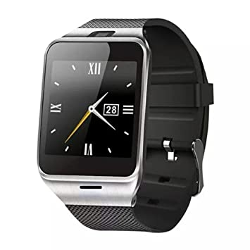 Reloj Inteligente,Xinan GV18 Relojs Bluetooth del Teléfono GSM NFC para Samsung iPhone (Negro