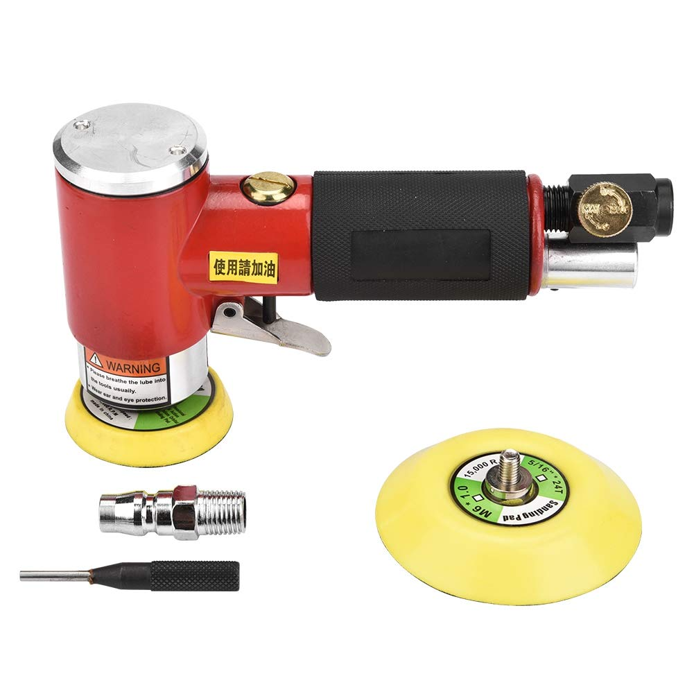 Akozon Sanding Pad Eccentric Air Angle Grinder Pneumatic Polishing Tool with 2in/3in Sanding Pad