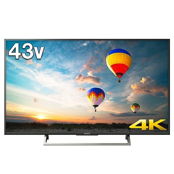 ソニー SONY 43V型 4K対応 テレビ ブラビア KJ-43X8000E B (2017年モデル)