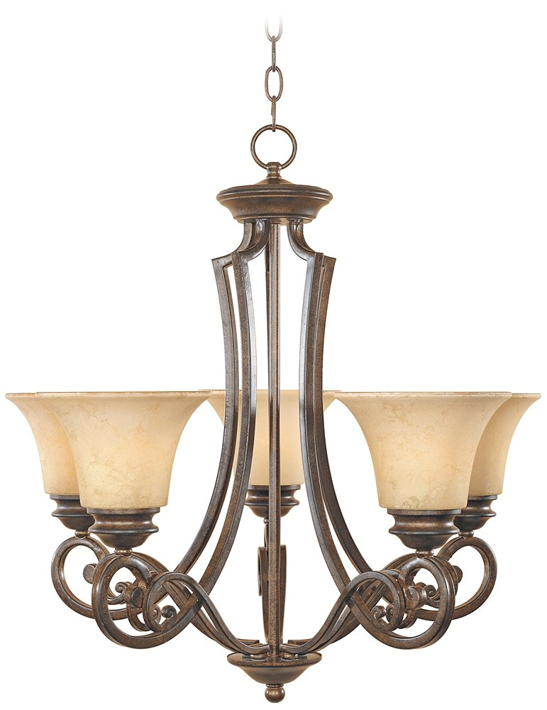 Designers Fountain 81885-FSN Mendocino 5 Light Chandelier ...