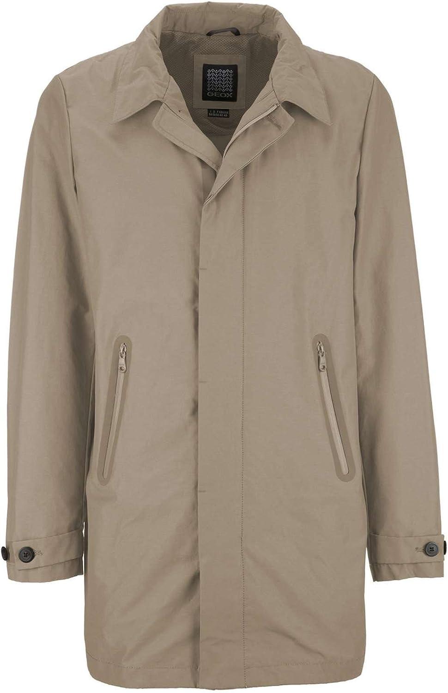 TALLA Medium (Talla Del Fabricante: 50). Geox Man Jacket Abrigo para Hombre