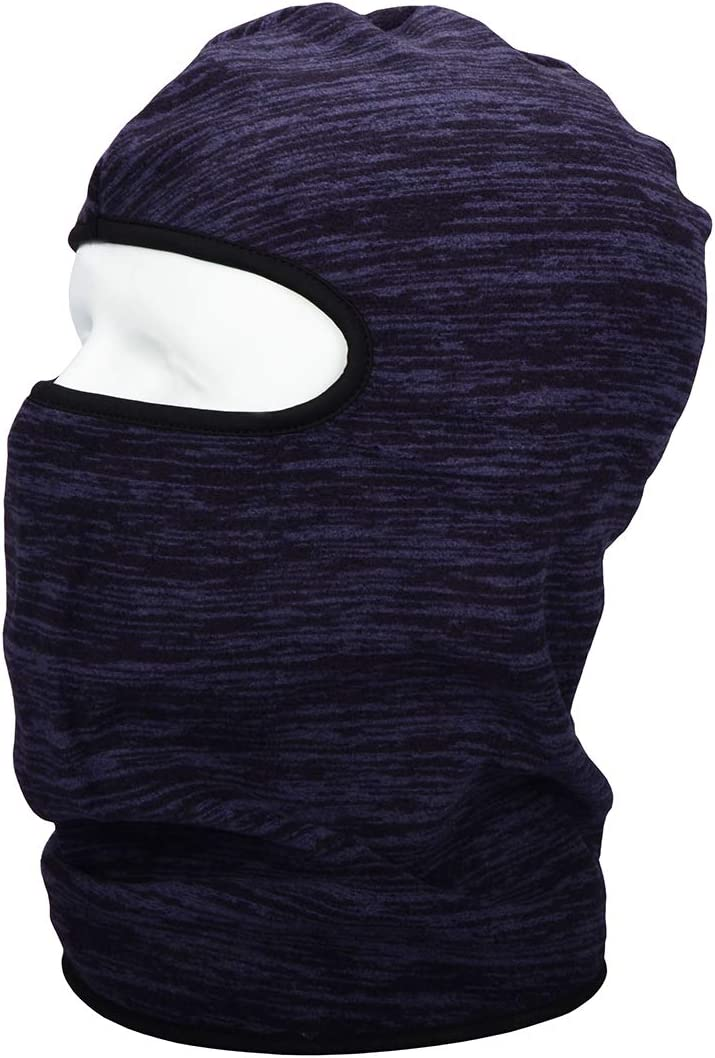 HOPESHINE Balaclava Windproof Ski Mask Beanie Thermal Full Face Mask Motorcycle Helmet for Winter Cold Weather for Men Women Purple, 1-PACK