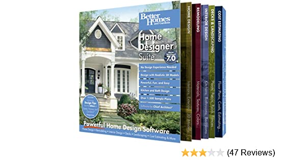amazon com better homes and gardens home designer suite 7 0 old
