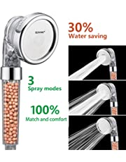 (Transparent) - Ionic Shower Head, Filter Handheld Shower Head 3-Way Spray hand shower with Ion Mineral Balls by Nosame ...