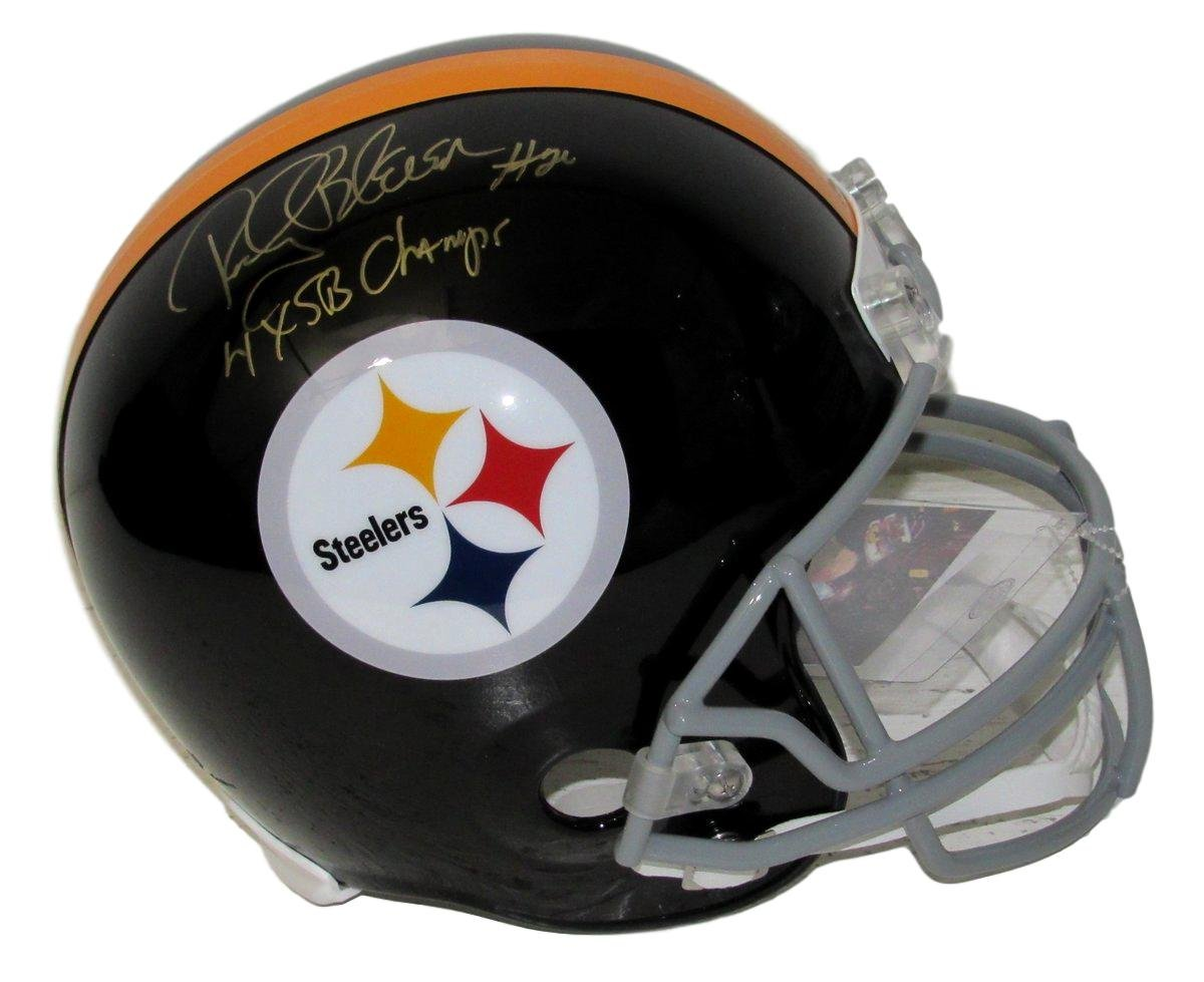Rocky Bleir Steelers Autographed/Signed Full Size Helmet Inscribed JSA 135353 Best Authentics