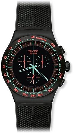 Часы свотч black coat