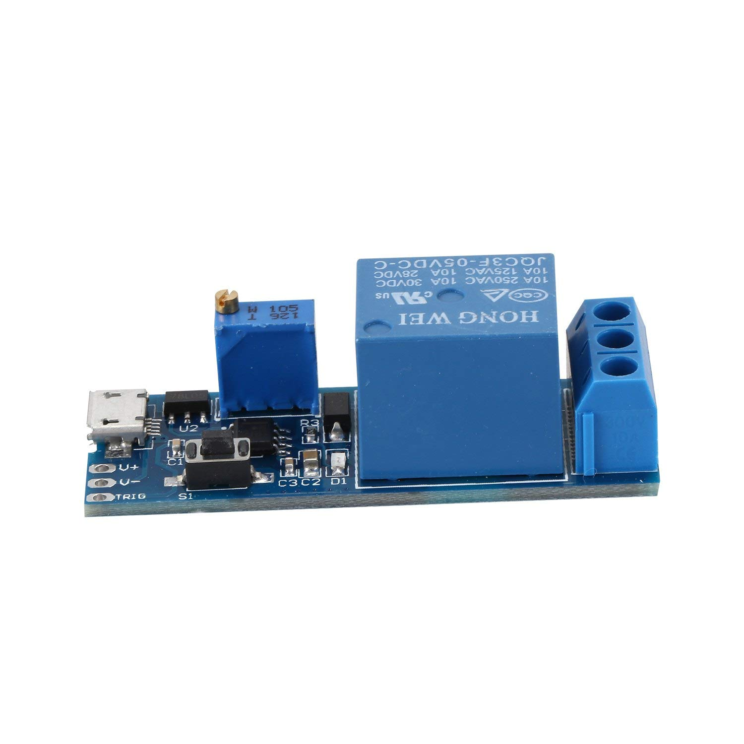 TOOGOO(R) Wide voltage 5V-30V trigger delay relay module, timer module, time delay switch