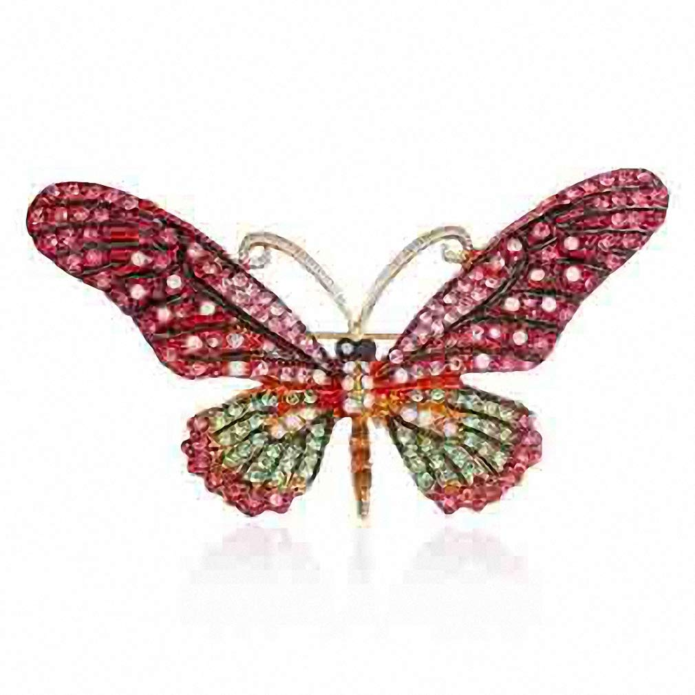 Jana Winkle Colorful Cute Butterfly Brooch Mix ColCrystal Rhinestone Brooches Women Lady Jewelry Bc17Y034M2-3