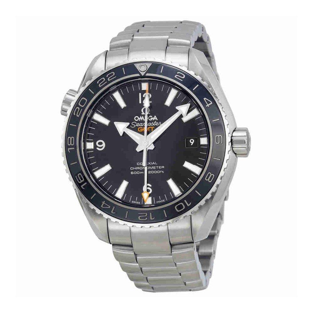 Omega Seamaster Planet Ocean GMT Negro Dial Acero Mens Reloj 23230442201001: Omega: Amazon.es: Relojes