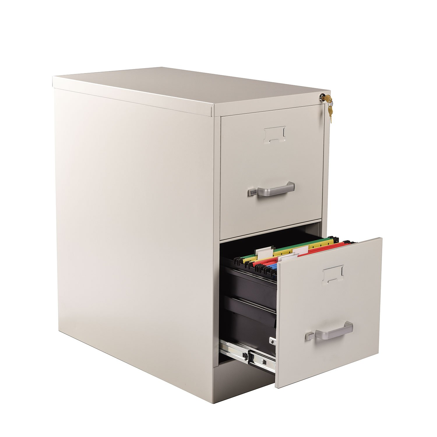 Heyesk 2 Drawer File Cabinet with Lock Vertical Fully Assembled Filing Cabinets(Putty, 2-Drawer)