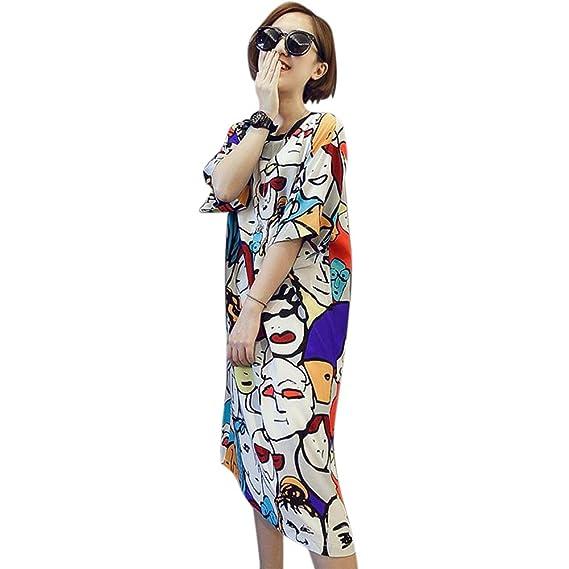 Summer Women Casual Dress Beach Style Lace Chiffon Sleeveless O-neck Stripes