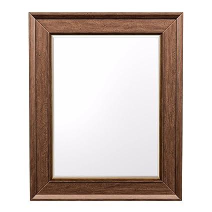 Amazon.com: Ethan Allen Bevan Wood-Frame Large Mirror, Terra: Home ...