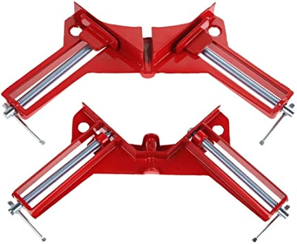 90 Degree Right Angle Clamp,Adjustable Wood Vice Miter Clamp,Woodworking Clamps Set,DIY Hand Tools Corner Clamp 2PCS