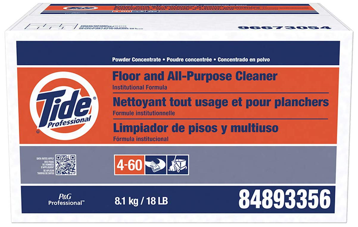 P&G PROFESSIONAL-PGC02363 Floor and All-Purpose Cleaner from Tide Professional, Bulk Multi-Surface Powder for Floors and Walls, Commercial Use, Phosphate Free, 18 lb. Box