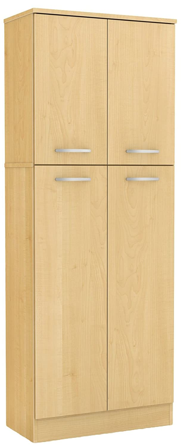 South Shore 4-Door Storage Pantry with Adjustable Shelves, Country Pine 10103