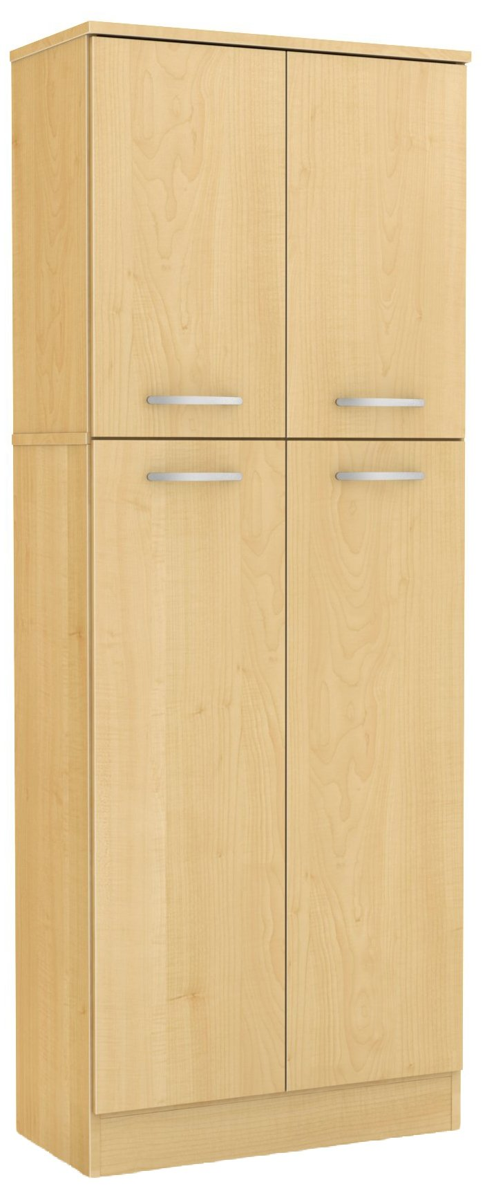 South Shore 4-Door Storage Pantry with Adjustable Shelves, Natural Maple by South Shore