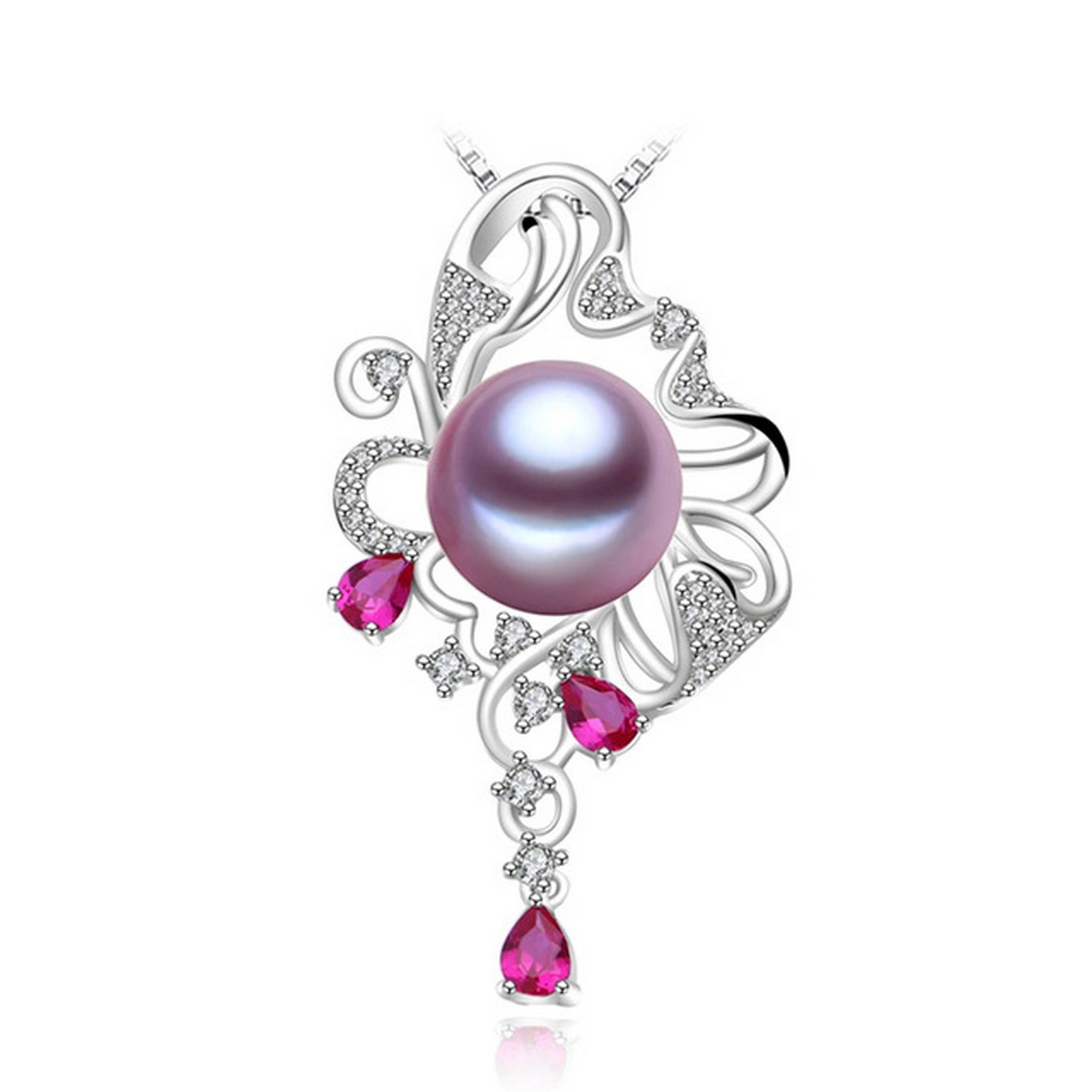 CS-DB Jewelry Silver Pearl Cute Chain Charm Pendants Necklaces
