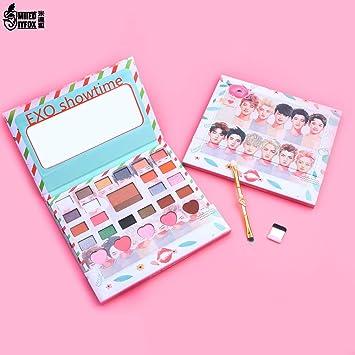 New Korea Exo Eye Makeup Nudes Palette 26colors Matte Eyeshadow Pallete Glitter Powder Eye Shadow With Brush Set Stamp Pigment Eye Shadow