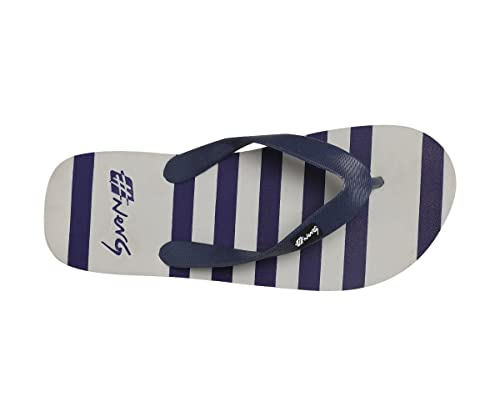 34dd280b2 NerG Striped Grey and Navy Flip Flops for Men  Buy Online at Low Prices in  India - Amazon.in