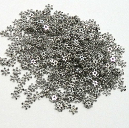 Rockin Beads 400 Antiqued Silver Plated Zinc Spacer Beads Thin 7mm Round Star Dot