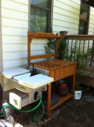 Amazon Com Merry Garden Potting Bench With Recessed