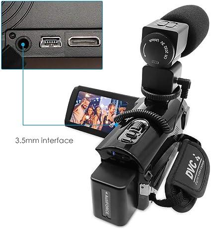 RegeMoudal Micrófono de la cámara, Grabación de Video Digital ...