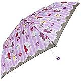 女の子 キッズ傘 50cm 子供用 折りたたみ傘 グラスファイバー アリス