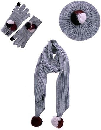 DON ALGODON Pack bufanda, gorro y guantes Viki: Amazon.es: Ropa y ...