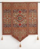 Moroccan Style Jacquard Woven Art Tapestry Wall Hanging & Tassels 54'' X 66''