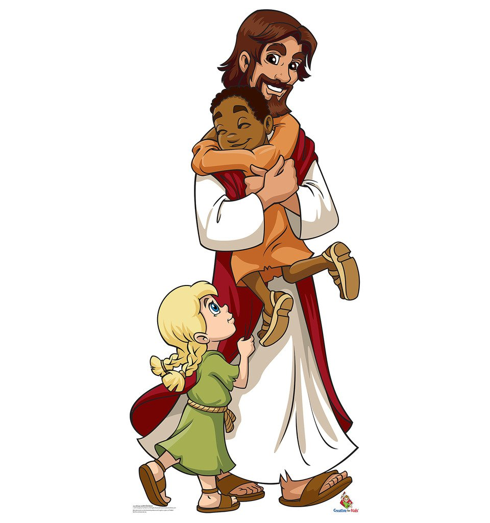 Jesus with Children - Creative for Kids - Advanced Graphics Life Size Cardboard Standup