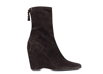 9430050035b Amazon.com   Car Shoe by Prada Brown Suede Wedges Booties   Boots