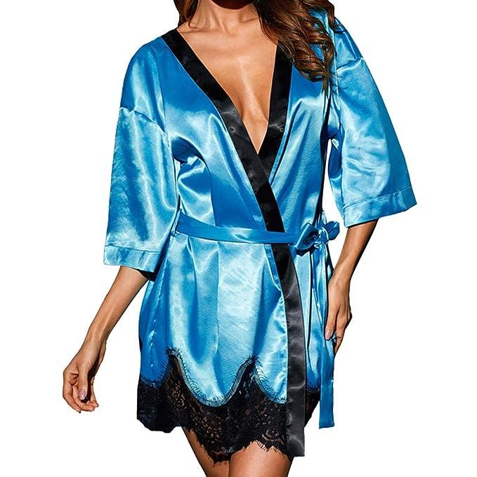 Hibote Lencería Sexy Vestido de Bata de Encaje Mujeres Babydoll Camisón Camisón Ropa de Dormir Ropa de Dormir Ropa de Mujer: Amazon.es: Ropa y accesorios