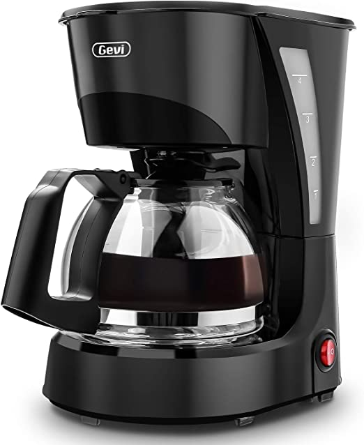 Coffee Maker Gevi 4 Cup Drip Coffee Machine with Coffee Pot for Home and Office