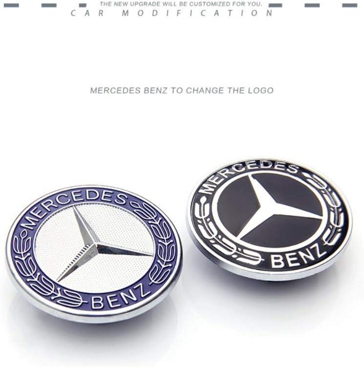 Emblema de 56 mm para el centro de la cubierta cromada de la carrocer/ía del coche con logotipo de la marca de la capota plana de estrella insignia del cuerpo para Benz W204 W212 Wallner